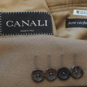 Canali Brown Label Pure Cashmere Light Brown coat